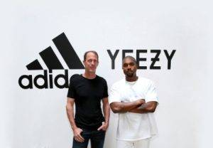 adidas CMO Eric Liedtke and Kanye West at Milk Studios on June 28, 2016 in Hollywood, California. adidas and Kanye West announce the future of their partnership: adidas + KANYE WEST