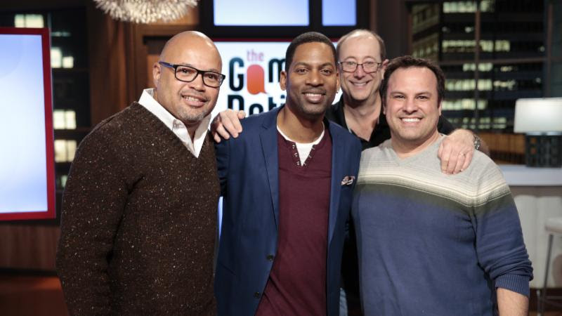 Host. Tony Rock and game show guests